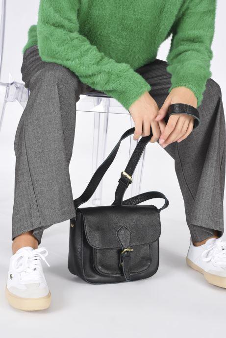 Handtaschen Georgia Rose Magali Leather schwarz ansicht von unten / tasche getragen