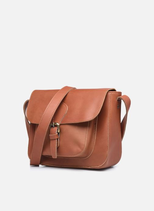 Bolsos de mano Georgia Rose Magali Leather Marrón vista del modelo