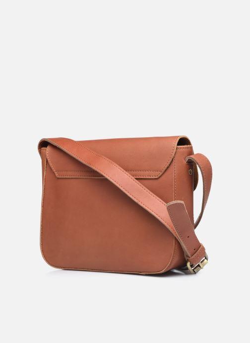 Bolsos de mano Georgia Rose Magali Leather Marrón vista lateral derecha
