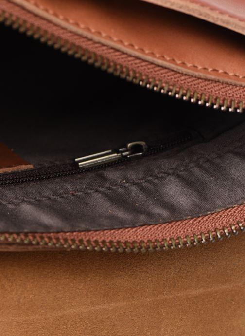 Handtassen Georgia Rose Magali Leather Bruin achterkant