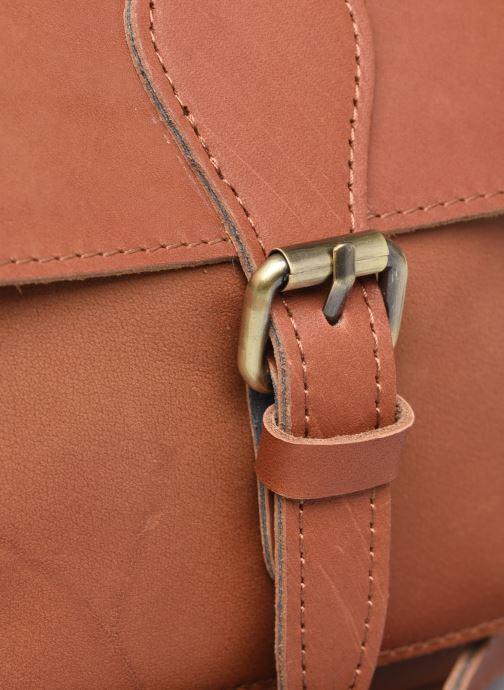 Bolsos de mano Georgia Rose Magali Leather Marrón vista lateral izquierda