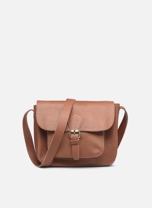 Handtassen Georgia Rose Magali Leather Bruin detail