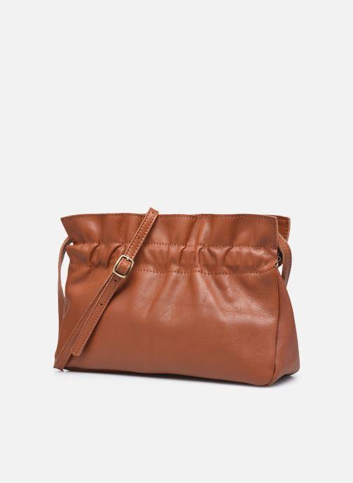 Handtassen Georgia Rose Marga Leather Bruin model