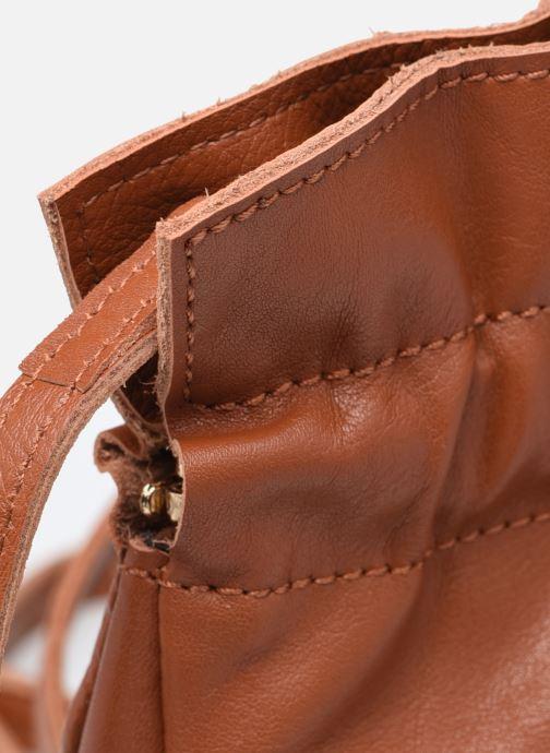Handtaschen Georgia Rose Marga Leather braun ansicht von links