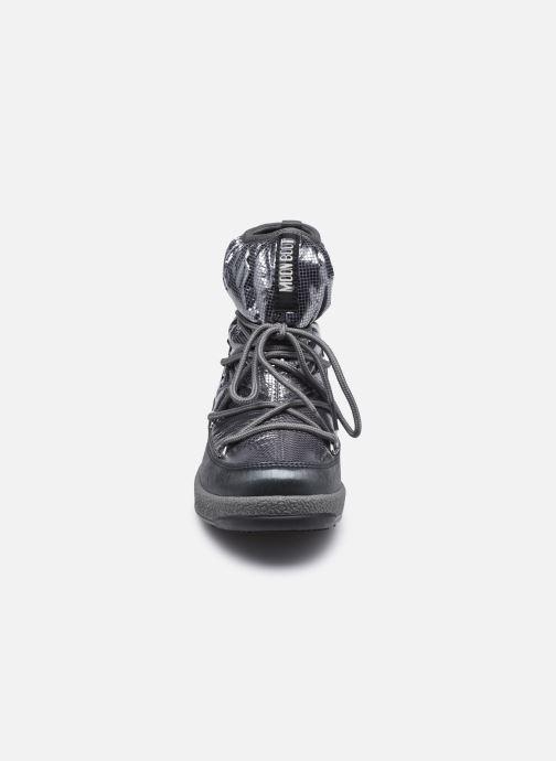 Chaussures de sport Moon Boot Moon Boot Jr Girl Low Premium Nylon WP Argent vue portées chaussures