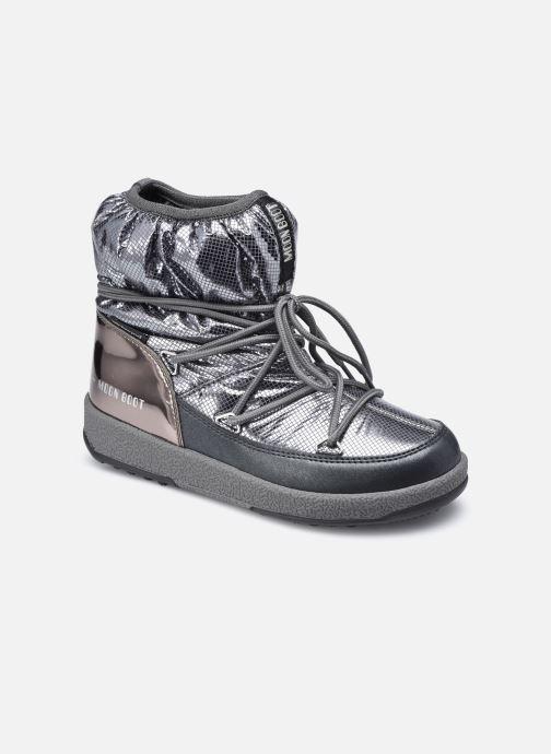 Chaussures de sport Moon Boot Moon Boot Jr Girl Low Premium Nylon WP Argent vue détail/paire