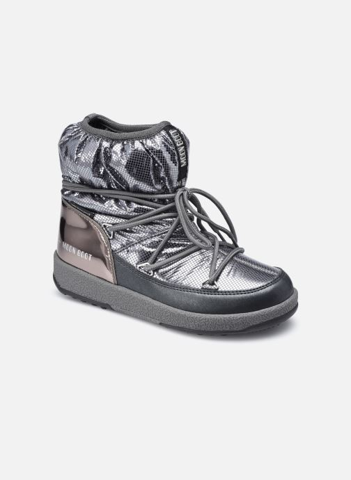 Sportschuhe Moon Boot Moon Boot Jr Girl Low Premium Nylon WP silber detaillierte ansicht/modell