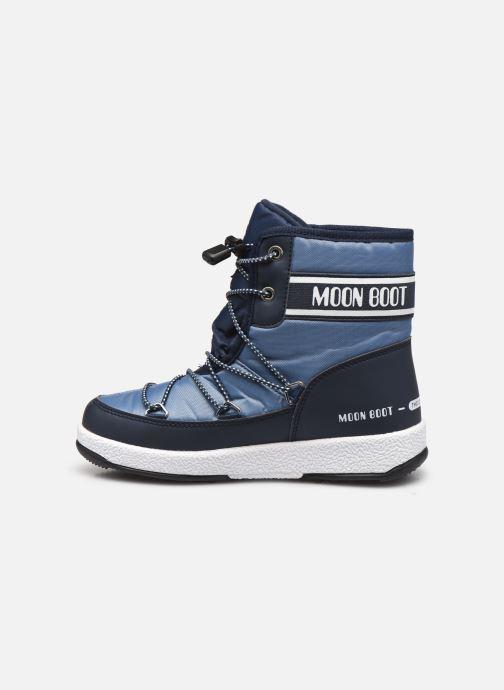 Sportschuhe Moon Boot Moon Boot Jr Boy Mid WP 2 blau ansicht von vorne
