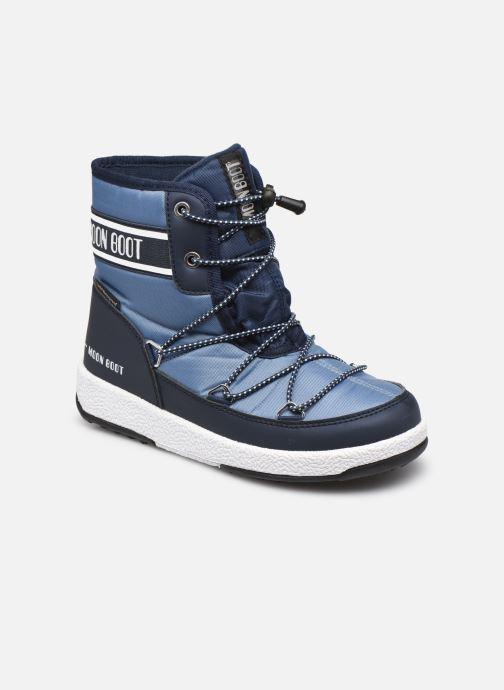 Sportschuhe Moon Boot Moon Boot Jr Boy Mid WP 2 blau detaillierte ansicht/modell