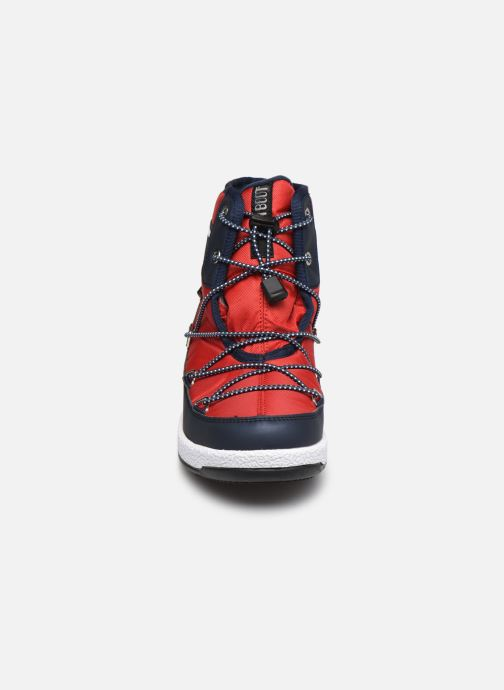 Chaussures de sport Moon Boot Moon Boot Jr Boy Mid WP 2 Rouge vue portées chaussures