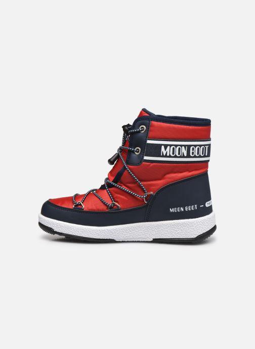 Sportschuhe Moon Boot Moon Boot Jr Boy Mid WP 2 rot ansicht von vorne
