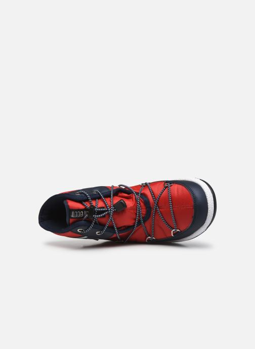 Chaussures de sport Moon Boot Moon Boot Jr Boy Mid WP 2 Rouge vue gauche