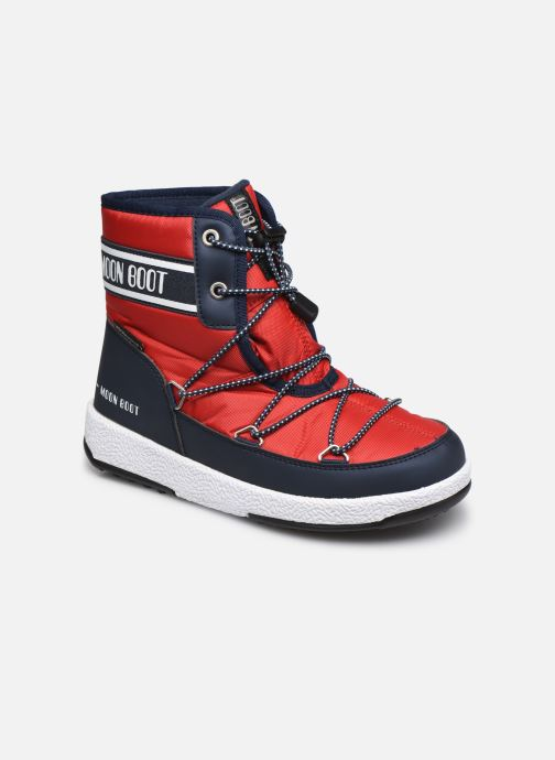 Chaussures de sport Moon Boot Moon Boot Jr Boy Mid WP 2 Rouge vue détail/paire