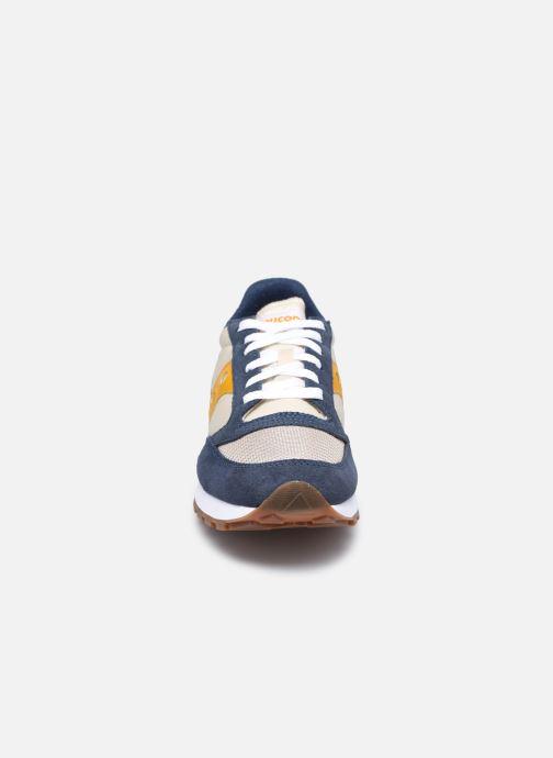 Baskets Saucony Jazz Original Vintage M Bleu vue portées chaussures