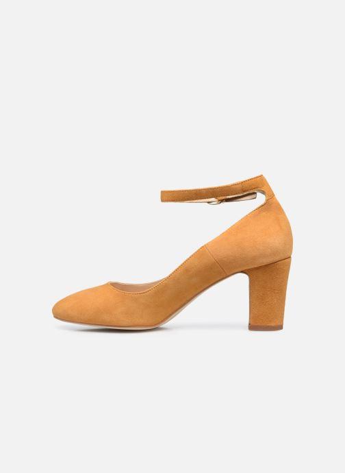 Zapatos de tacón Minelli F91 107/VEL Amarillo vista de frente