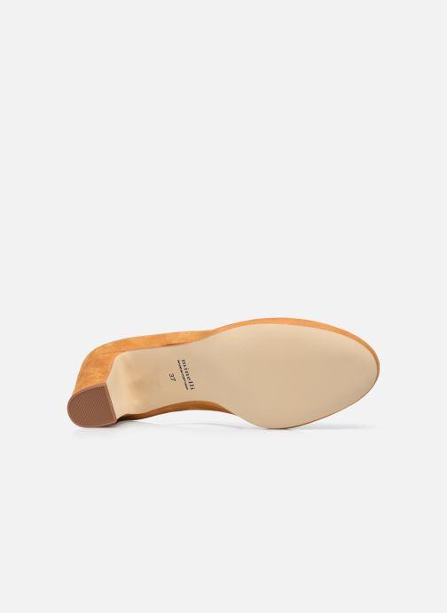 Zapatos de tacón Minelli F91 107/VEL Amarillo vista de arriba