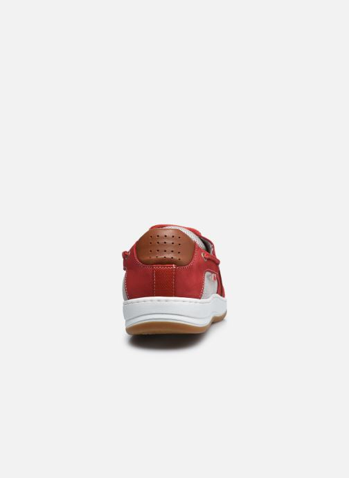 Zapatos con cordones TBS Safford Rojo vista lateral derecha