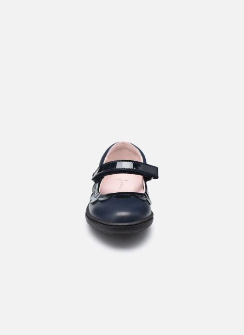 Ballerines Jacadi Ecole bis Bleu vue portées chaussures