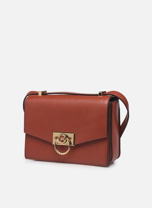 Handtaschen Michael Michael Kors HENDRIX XS CONV XBODY orange schuhe getragen
