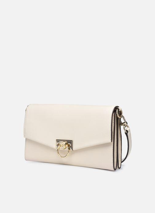 Handtaschen Michael Michael Kors HENDRIX LG POUCHETTE beige schuhe getragen