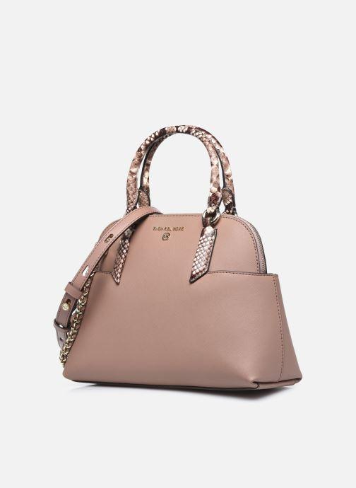 Handtaschen Michael Michael Kors HUDSON SM DOME SATCHEL rosa schuhe getragen