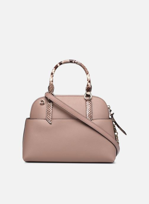 Handtaschen Michael Michael Kors HUDSON SM DOME SATCHEL rosa ansicht von vorne