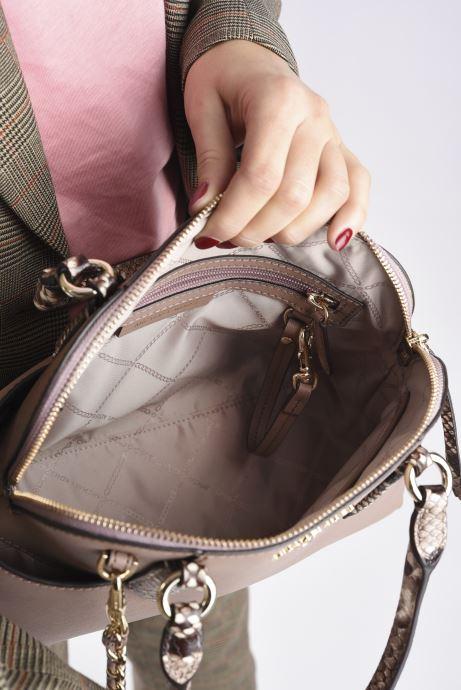 Handtaschen Michael Michael Kors HUDSON SM DOME SATCHEL rosa ansicht von hinten