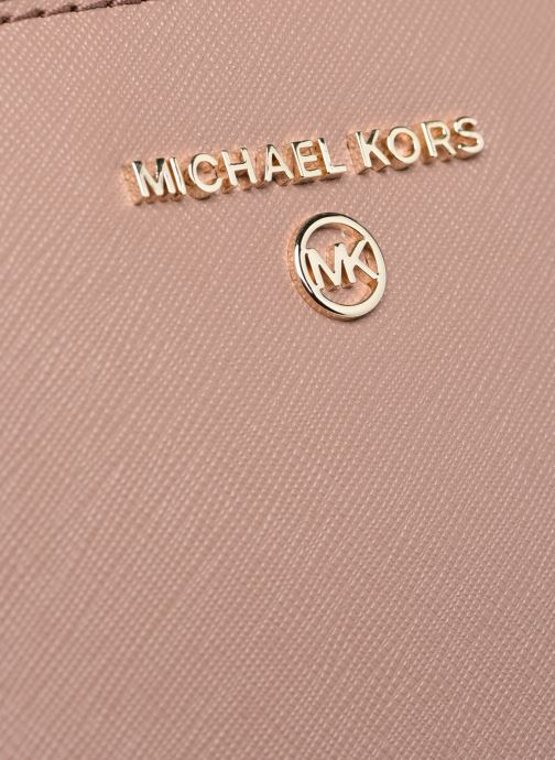 Handtaschen Michael Michael Kors HUDSON SM DOME SATCHEL rosa ansicht von links