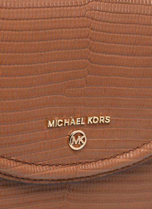 Bolsos de mano Michael Michael Kors JET SET MD HLF DOME CHN XBDY Marrón vista lateral izquierda