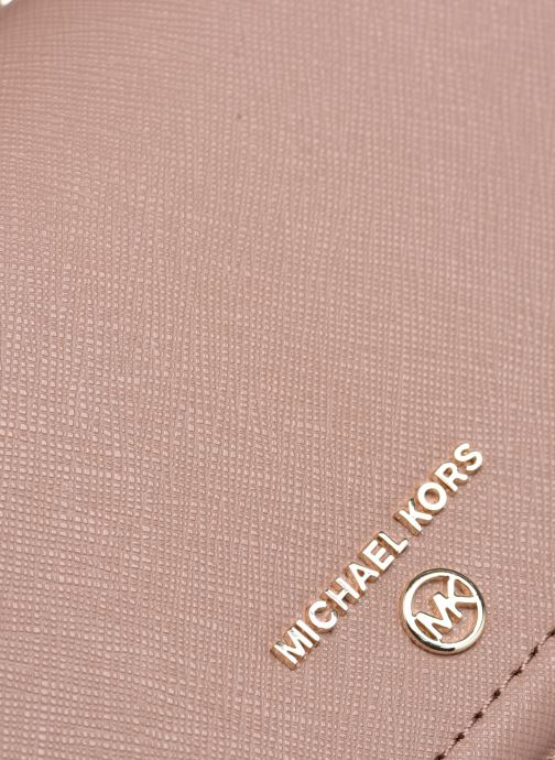 Marroquinería pequeña Michael Michael Kors JET SET SM TH PHONE XBODY Rosa vista lateral izquierda