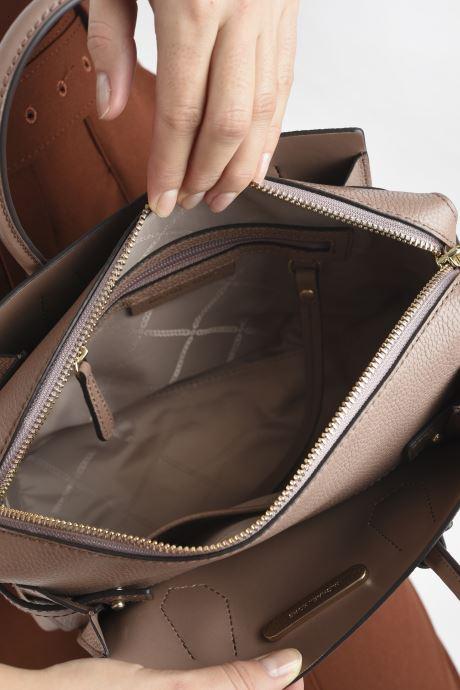 Handtaschen Michael Michael Kors MERCER BELTED SM SATCHEL rosa ansicht von hinten
