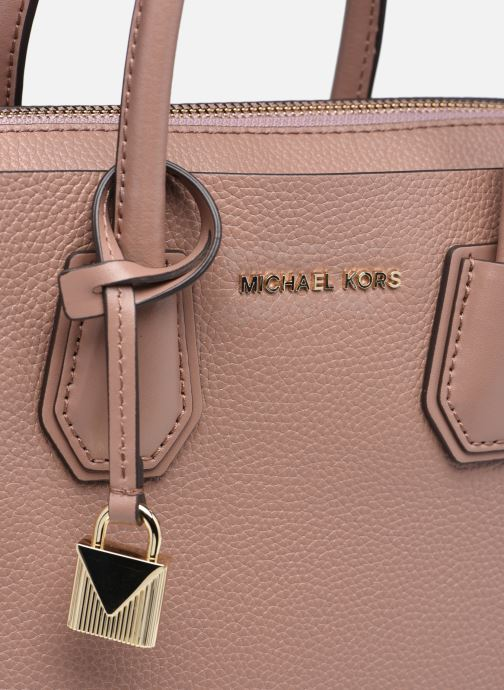 Handtaschen Michael Michael Kors MERCER BELTED SM SATCHEL rosa ansicht von links