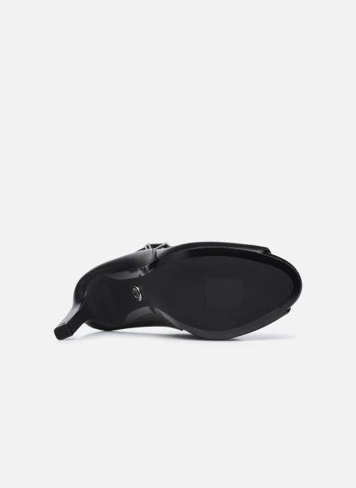 Zapatos de tacón Michael Michael Kors LAWSON OPEN TOE Negro vista de arriba