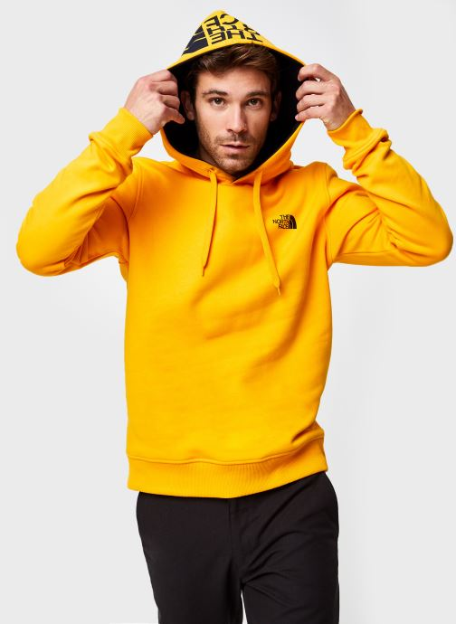 Vêtements The North Face M Seasonal Drew Peak Pullover Jaune vue détail/paire