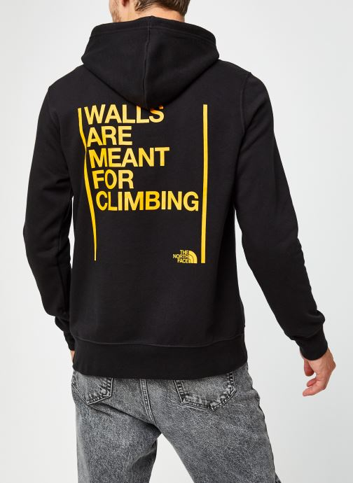 Vêtements The North Face U Walls Are Meant For Climbing P/O Hdy Noir vue portées chaussures