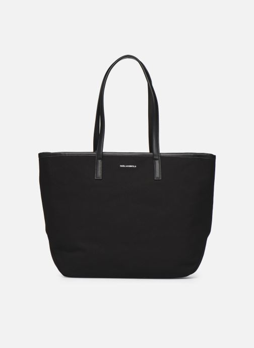 Handtaschen Karl Lagerfeld Karl Forever Canvas Shopper schwarz ansicht von vorne