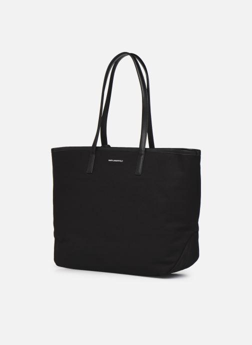 Handtaschen Karl Lagerfeld Karl Forever Canvas Shopper schwarz ansicht von rechts