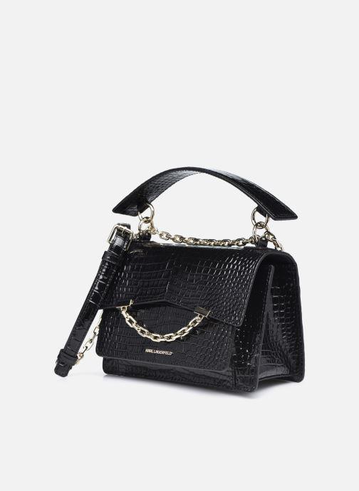 Bolsos de mano Karl Lagerfeld K/Karl Seven Croc Shoulderbag Negro vista del modelo