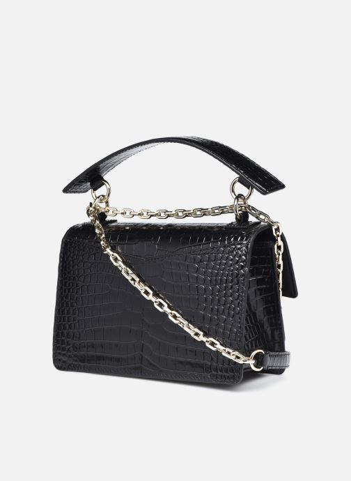 Bolsos de mano Karl Lagerfeld K/Karl Seven Croc Shoulderbag Negro vista lateral derecha