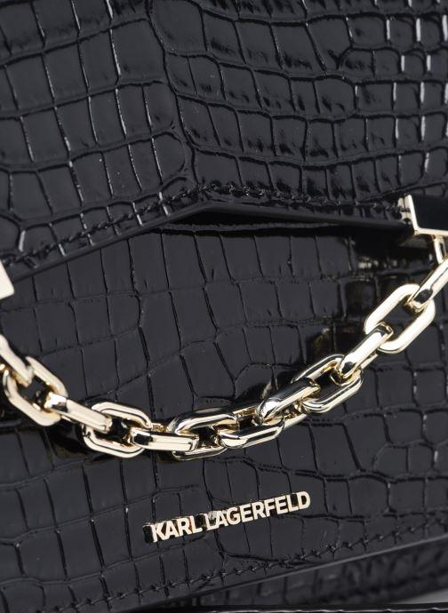 Bolsos de mano Karl Lagerfeld K/Karl Seven Croc Shoulderbag Negro vista lateral izquierda