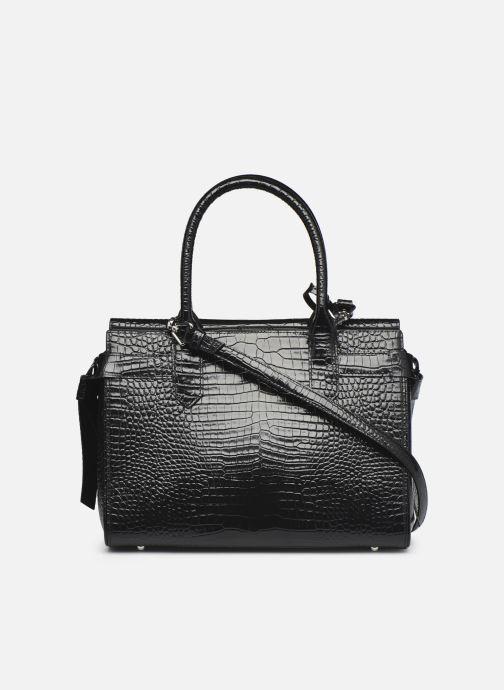 Bolsos de mano Karl Lagerfeld K/Ikon Croc Md Top Handle Negro vista de frente