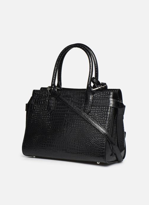 Bolsos de mano Karl Lagerfeld K/Ikon Croc Md Top Handle Negro vista lateral derecha