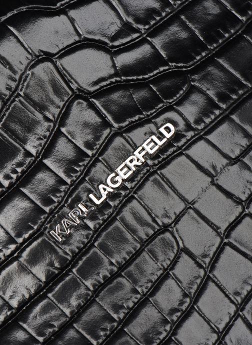 Bolsos de mano Karl Lagerfeld K/Ikon Croc Md Top Handle Negro vistra trasera
