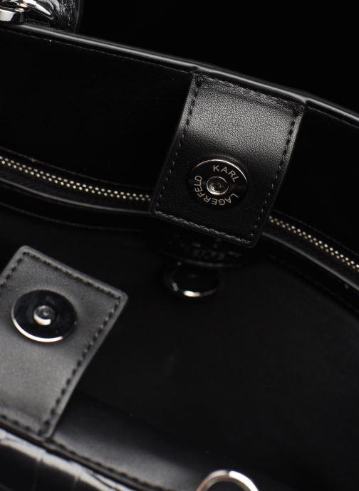 Bolsos de mano Karl Lagerfeld K/Ikon Croc Md Top Handle Negro vista lateral izquierda