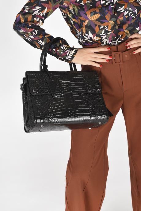 Bolsos de mano Karl Lagerfeld K/Ikon Croc Md Top Handle Negro vista de abajo