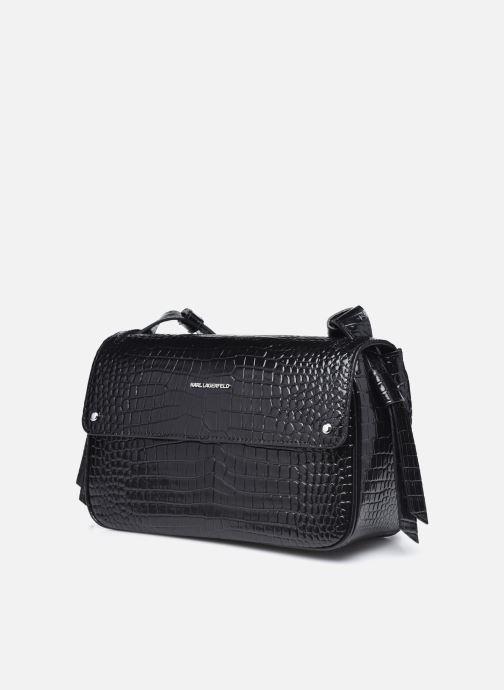 Bolsos de mano Karl Lagerfeld K/Ikon Croc Shoulderbag Negro vista del modelo