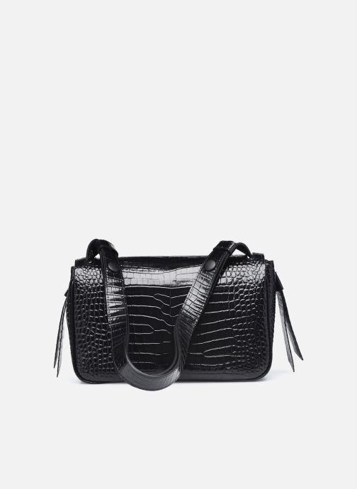 Handtaschen Karl Lagerfeld K/Ikon Croc Shoulderbag schwarz ansicht von vorne
