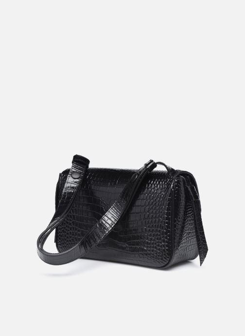 Bolsos de mano Karl Lagerfeld K/Ikon Croc Shoulderbag Negro vista lateral derecha