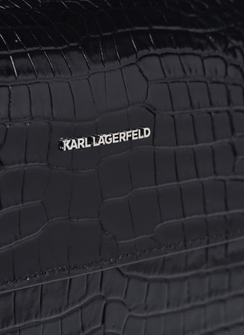 Handtaschen Karl Lagerfeld K/Ikon Croc Shoulderbag schwarz ansicht von links