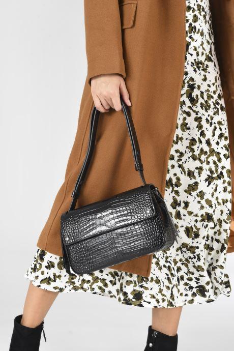 Sacs à main Karl Lagerfeld K/Ikon Croc Shoulderbag Noir vue bas / vue portée sac